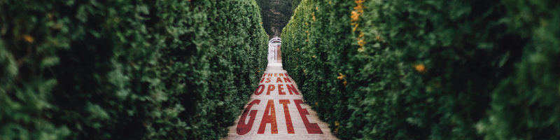 There is an Open Gate Website 800x200 1